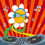 8806860-cute-active-dj-daisy-flower-mixing-music-for-spring-party
